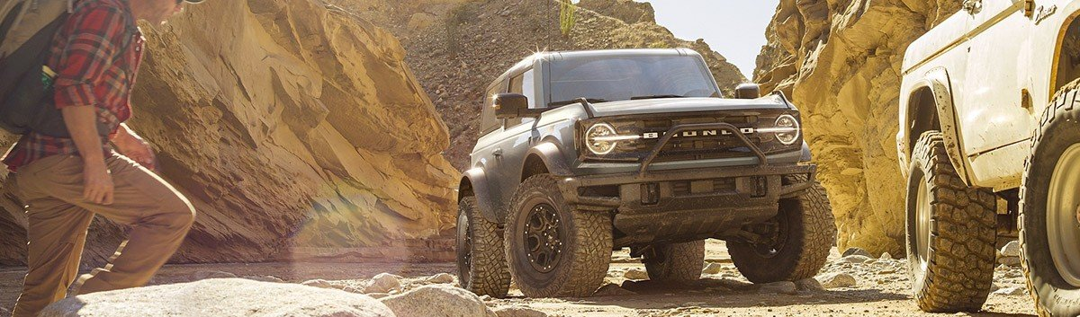 2021 Ford Bronco 2-Door on a terrain