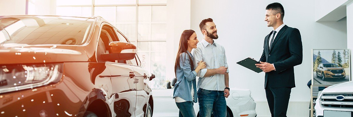 Couple at dealership