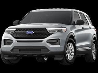 white ford explorer suv