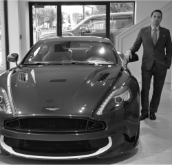 Sales Manager Allan B. Greenfield in Management at Aston Martin Summit