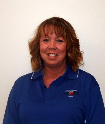 Used Car Title Clerk Brandy Ellis in Office at Hagerstown Ford