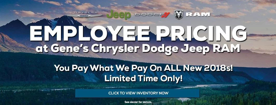 Employee Pricing at Gene's Chrysler Dodge Jeep RAM