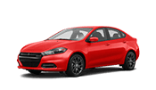 Affordable red dodge dart that is great on gas