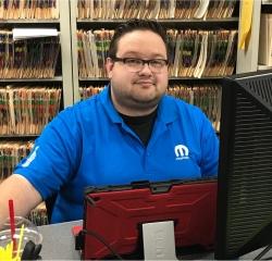 Service Advisor Trent Rix in Service at Gene's Chrysler Dodge Jeep RAM