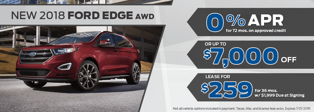 ford edge lease and finance specials