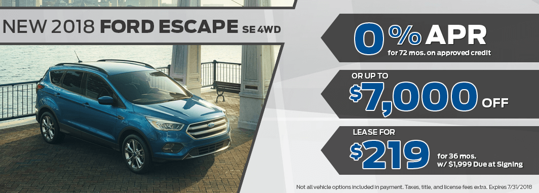 ford escape lease and finance specials