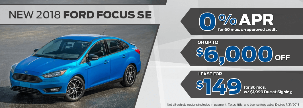 ford focus lease and finance specials