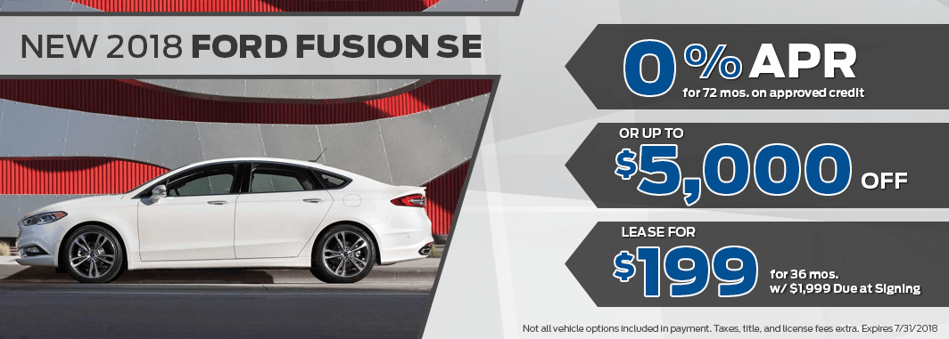 ford fusion lease and finance specials