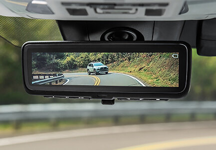 2019 toyota rav4 with available digital rearview mirror