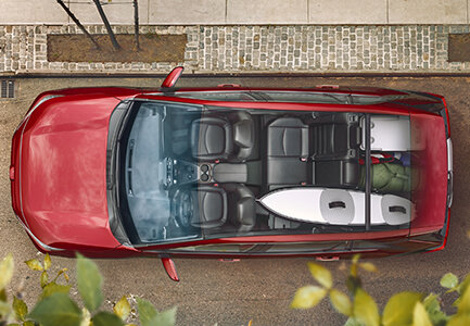 overhead view of the 2019 toyota rav4 at bill dube