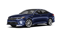 Blue 4-door kia optima