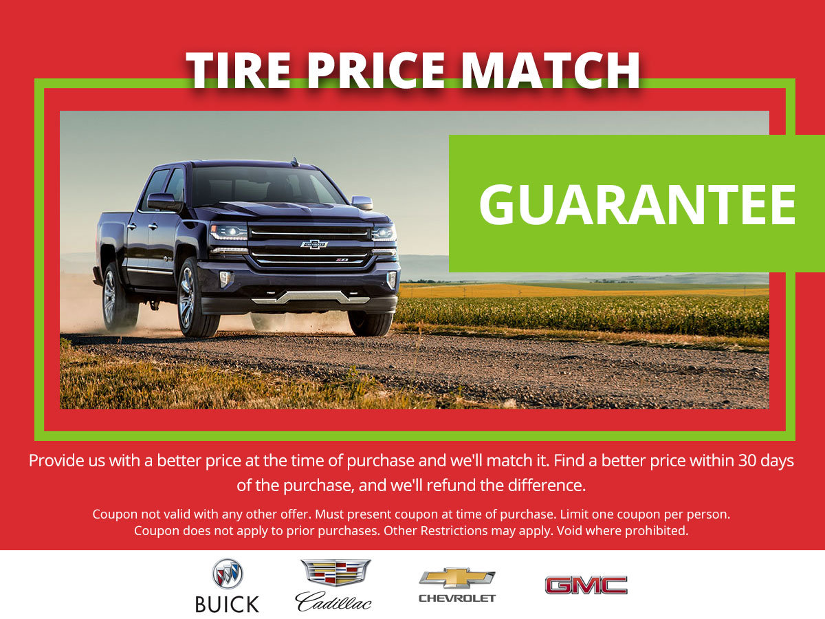 Coupon for Tire Price Match Guarantee