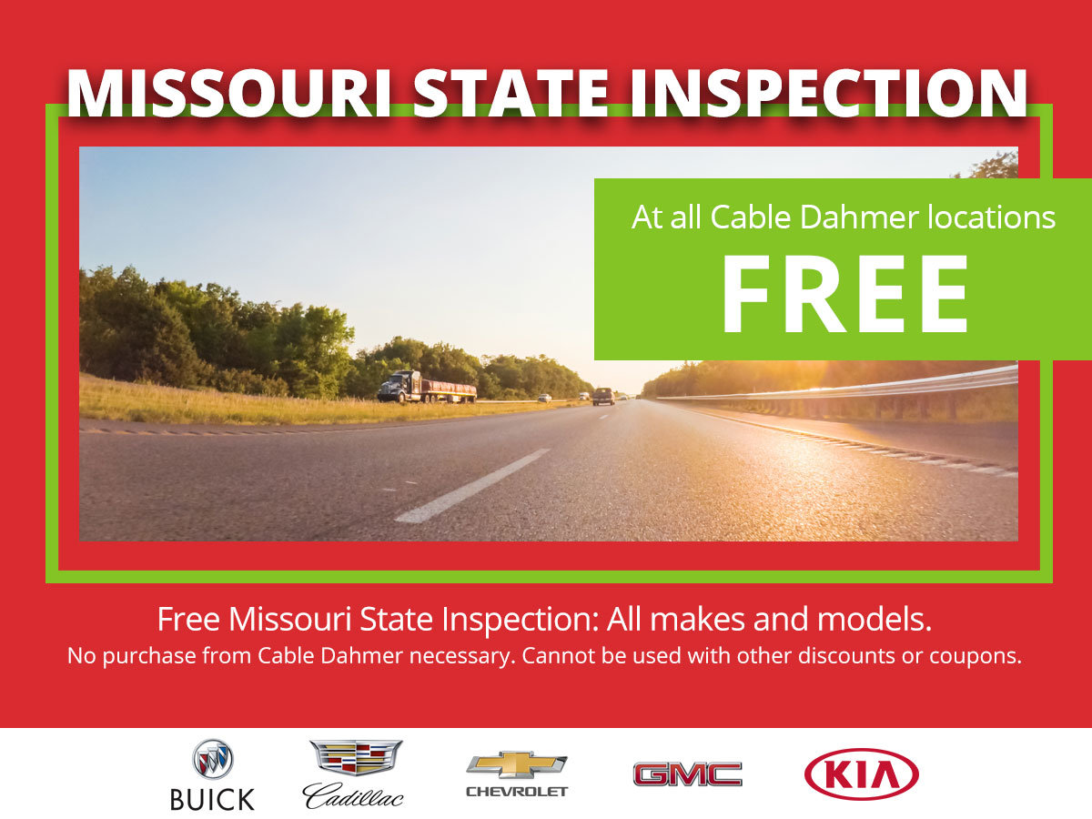 Coupon for FREE Missouri State Inspections at any of our great Kansas City locations!