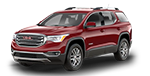 New red GMC Acadia on display at Cable Dahmer Buick GMC in Independence, MO.