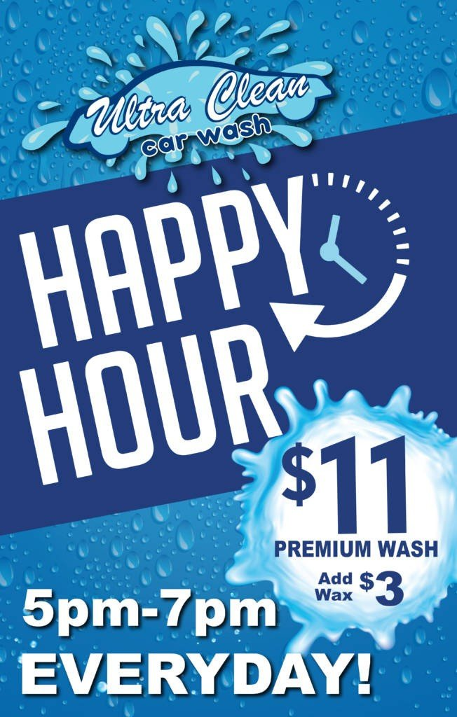 Ultra Clean Happy Hour Special