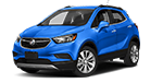New blue Buick Encore on display at Cable Dahmer Buick GMC in Independence, MO.