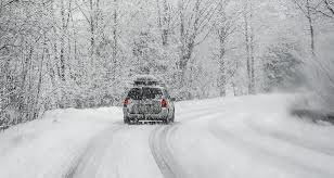 Winterize vehicle, icy road, snowy drive, tires on snow