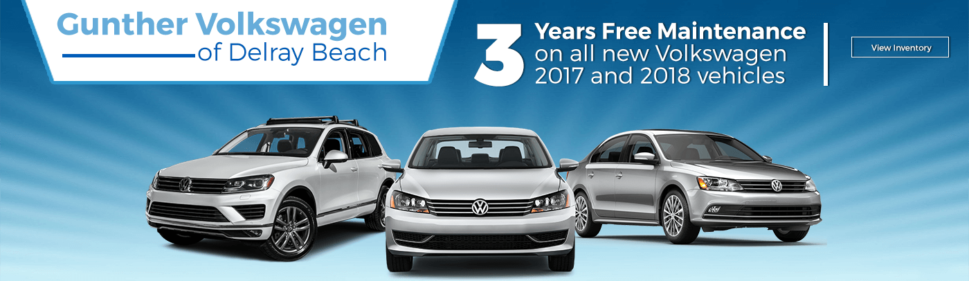 3 year free maintenance on all new Volkswagens