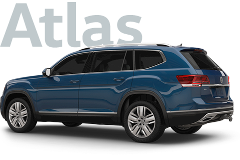 The new Volkswagen Atlas SUV with 3rd row seating