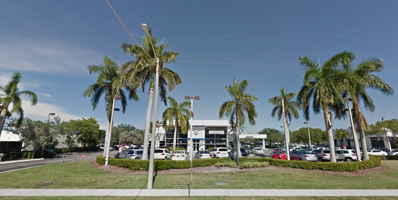 VW dealership storefront located in Delray Beach FL