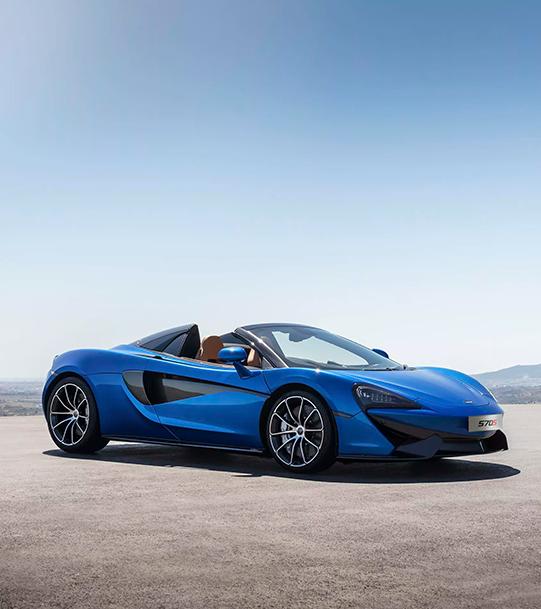 Blue McLaren 570GT