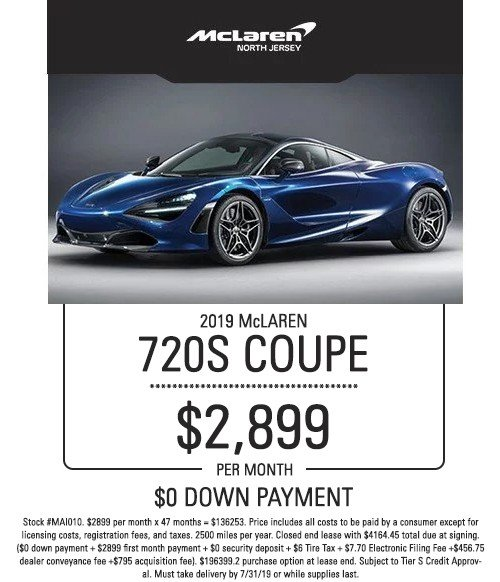 mclaren 720s coupe special