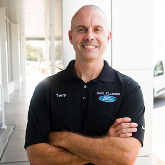Service Advisor Terry Jones in Service at Karl Flammer Ford