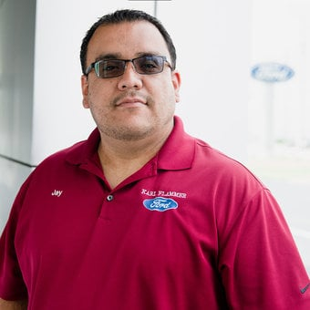Finance Manager Jay Rojas in Sales at Karl Flammer Ford