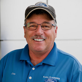 Lot Porter Jim Kelly in Sales at Karl Flammer Ford