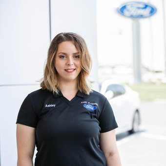 Customer Relations/Sales Assistant Ashley Worrell in Business Development Center at Karl Flammer Ford