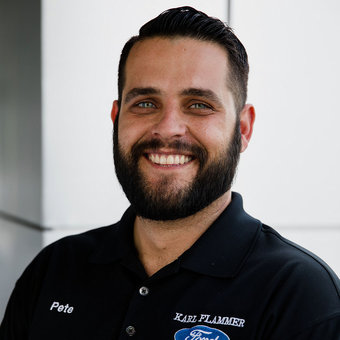 Service Advisor Pete Tibbits IV in Service at Karl Flammer Ford