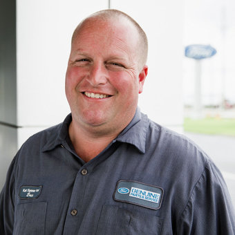 Shop Foreman Eric Bittner in Service at Karl Flammer Ford