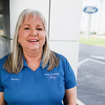 Customer Relations Manager Kathy Winstead in Business Development Center at Karl Flammer Ford