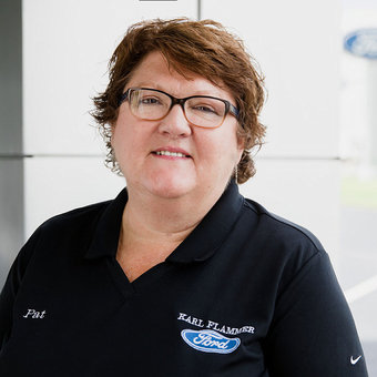 Rental Vehicle Administrator Pat Robinson in Service at Karl Flammer Ford
