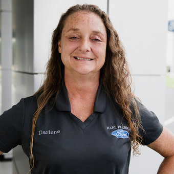 Service Advisor Darlene Wehe in Service at Karl Flammer Ford