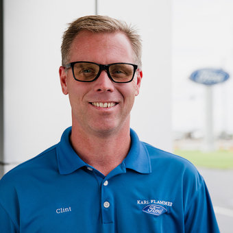 Assistant Parts Manager Clint Brandl in Parts at Karl Flammer Ford