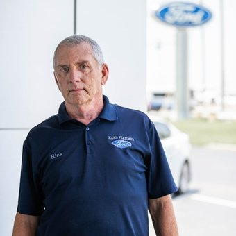 Shipping & Receiving Rick Frister in Parts at Karl Flammer Ford