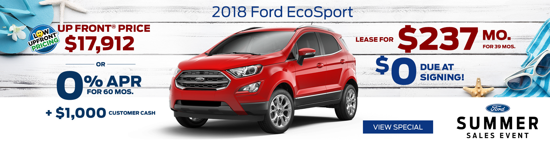 July 2018 Ford EcoSport Special