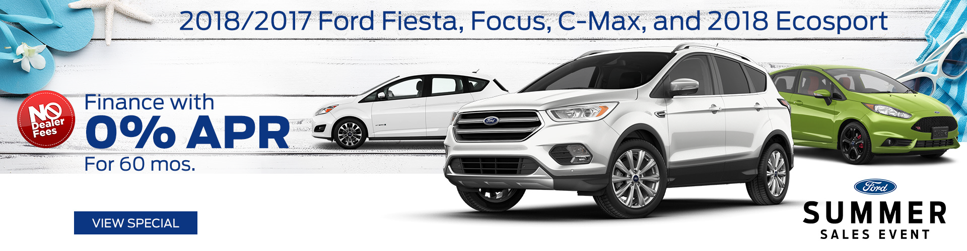 July 2018 Ford Fiesta, Focus, C-Max, & EcoSport Special