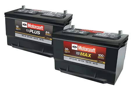 Get a $20 Rebate by Mail on Motorcraft® Tested Tough® Plus and Max Batteries
