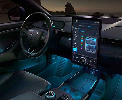 The All-Electric Mustang Mach-E interior