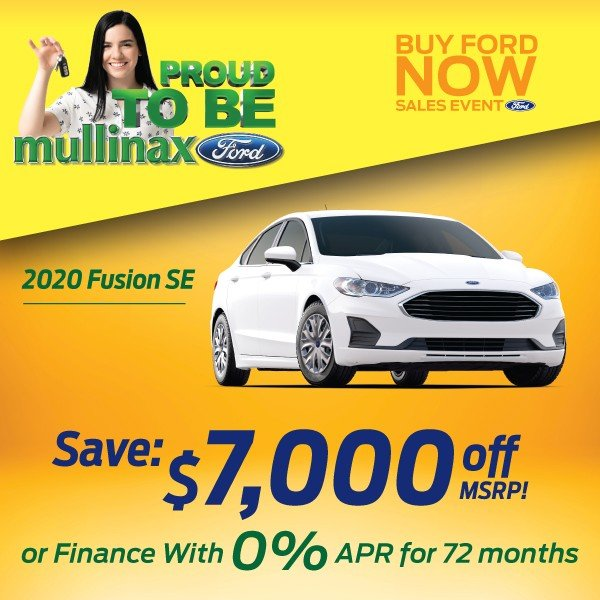 Special offer on 2020 Ford Fusion 2020 Fusion SE