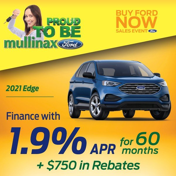 Special offer on 2021 Ford Edge 2021 Edge