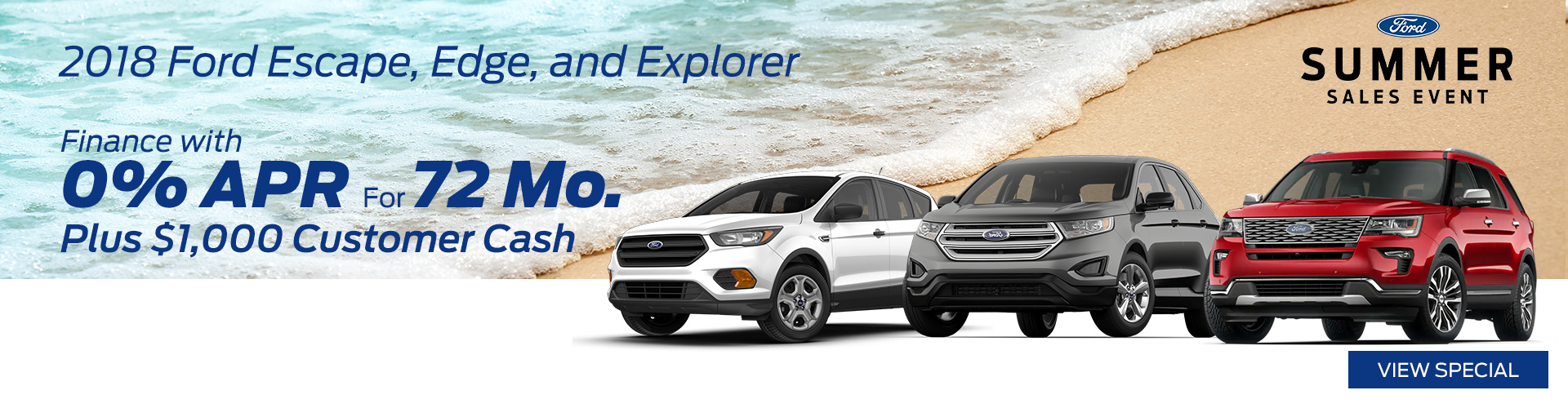 August 2018 Ford Summer Sales Event Special