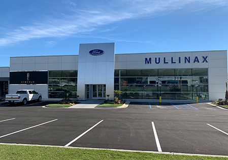 outside of Mullinax Ford in Mobile AL