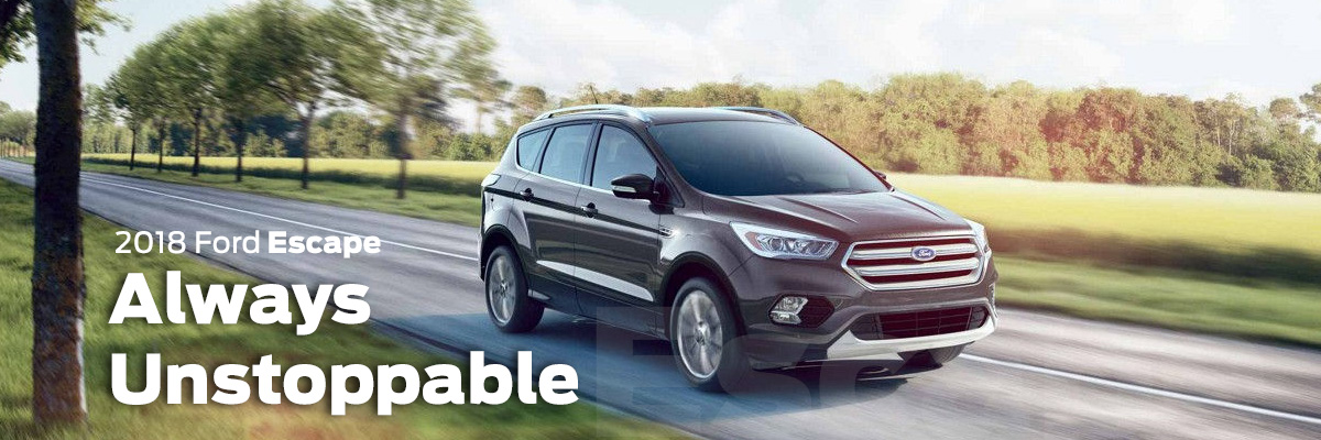 2018 Ford Escape driving on country road