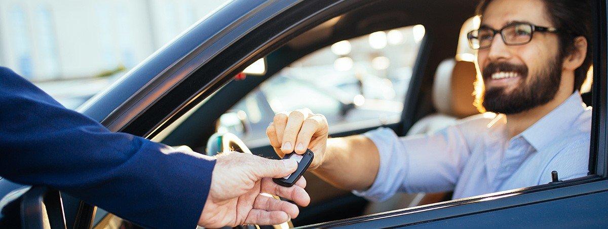 Man getting car keys
