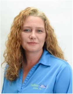 Assistant Service Manager Crystal Loper in Service at Mullinax Ford