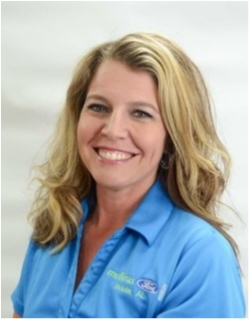 Service Department Manager Kristy Tarver in Service at Mullinax Ford
