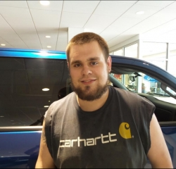 Technician Casey Tomac in Service at Kightlinger Motors